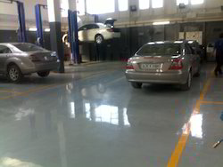 Epoxy Automobile Workshop Flooring Services