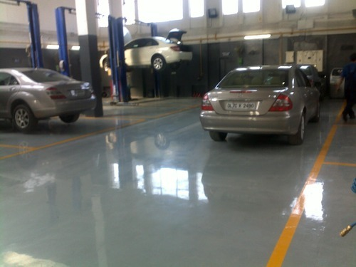 Automobile Workshop Flooring Services Service Provider From New Delhi