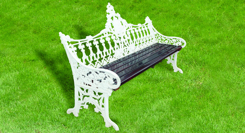 White & Brown Art Deco Garden Furniture - White & Brown Art Deco Garden Furniture, Metal Craft ID: 4182241391