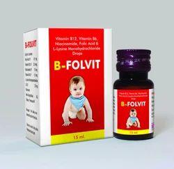 Vitamin B12 Vitamin B6 Niacinamide Folic Acid and L Lysine Monohydrochloride Drops