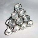 Vm Handicraft Wedding Crystal Napkin Ring, Size: 2 Inch