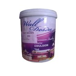 High Sheen Nut Brown Wall Desire Exterior Emulsion Paint, Packaging Type: Bucket, Packaging Size: 10l, 20l