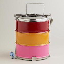 Multi Colored Steel Tiffin