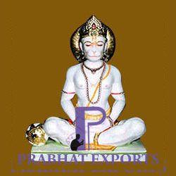 White Hanuman Marble Statue