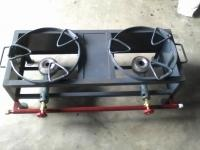 Two Burner M.S. Catering Stove with Round Ring