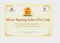 Indiamart Trust Seal Certificate