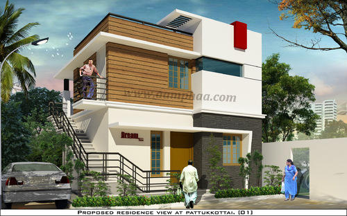 First Floor Elevation Models : Front elevation first floor house in arumbakkam chennai