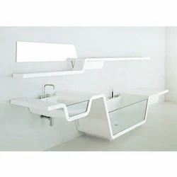 Acrylic Solid Surface Bathroom Wash Basin