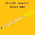Reversible Screw Driver Chrome Plated