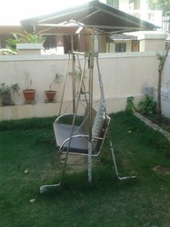 Stainless Steel Garden Swing 3 Sitter
