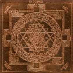 Shree Yantra Copper Plated