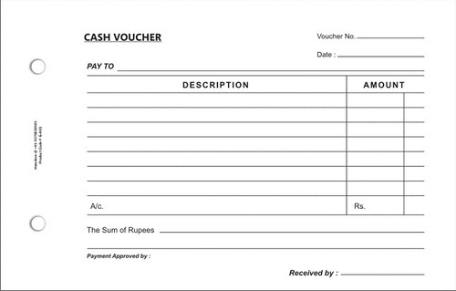 petty cash voucher format in india