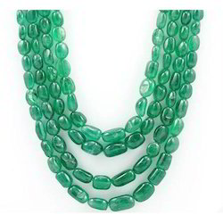 Emerald Tumbled Necklace