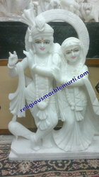 Statue Marble Radha Krishna
