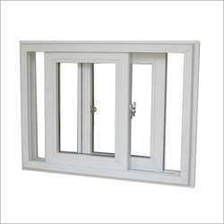 White Residential Double Glazed Sliding UPVC Window, Thickness Of Glass: 5NN