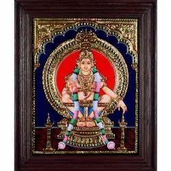 Lord Ayyappa Tanjore Painting