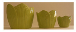 Ceramic Green Leaf Candles