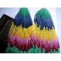 Rainbow Multi Sapphire Cut Beads