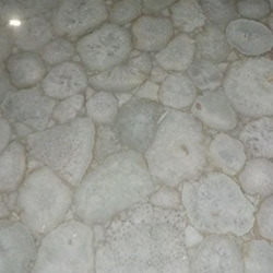 White Crystal Agate Tiles, Thickness: 15-20 mm, Size: 10ft*6ft