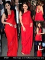 Bollywood Party Wear Designer Red Saree