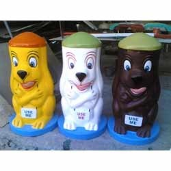 FRP Cartoon Dustbins