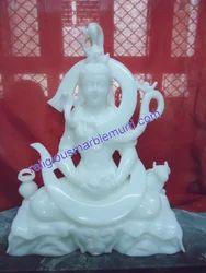 White Marble Shiva Moorti
