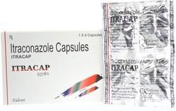 Itraconazole Capsule, Packaging Size: 1x4 Capsules, Packaging Type: Aluminium