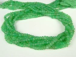 Chrysoprase Faceted Rondelle Beads Strands