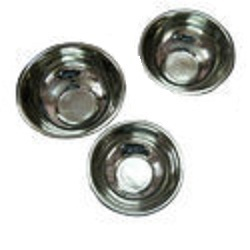 Footed Steel Bowls