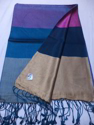 Pure Silk Reversible Border Design Shawls