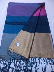 Pure Silk Reversible Border Design Shawls