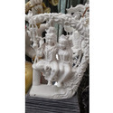 Marble  Shiv Parvati On Swing Statue