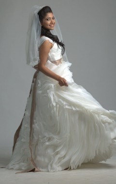 Crochet Lace Mermaid Gown and Organza Wedding Gown Retailer | D ...