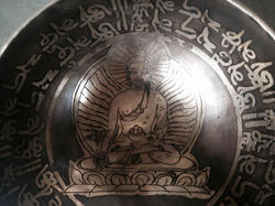 Tibetan Statue Mantra Bowl