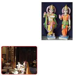 Marble Radha Krishna Statues for Temple