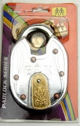 Solid Iron Padlock Riveted (90 mm)