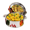 Stainless Steel Double Wall Casserole for Hotel/Restaurant Use