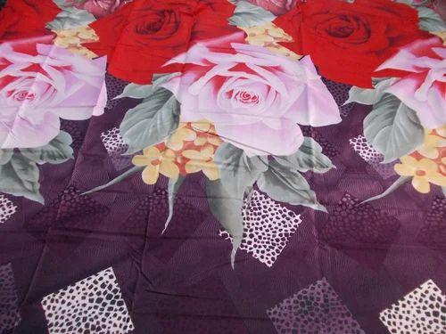 Printed Flower Bed Sheet