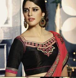 Designer Saree With Patch Work