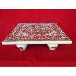 Exclusive Gold Plated Chowki with Stone Work On