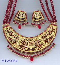 Red,Blue,Green,Black Necklace Set Thewa Jewellery Set