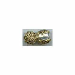 Golden Round Beads