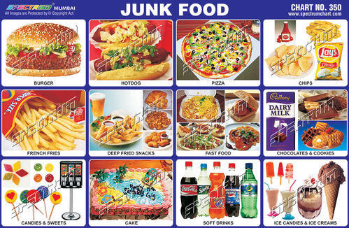 Junk Food Chart - View Specifications & Details Of Teaching Charts