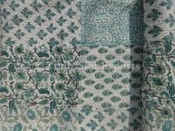 Cotton Block Printed Patch Work Block Print Kantha Quilt