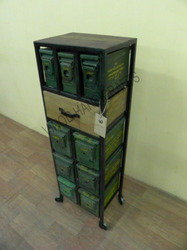 Iron Trolly Box Drawer