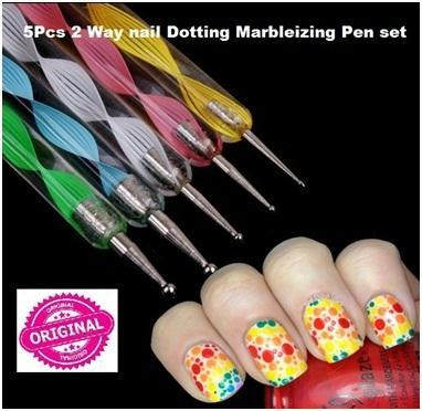 Nail Art Accessories Nail Art Pen 2 Way Brush 2 In 1 Nail Paint