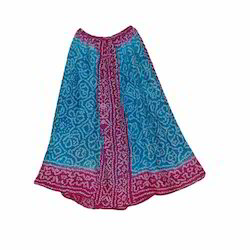 Printed Cotton Long Skirt