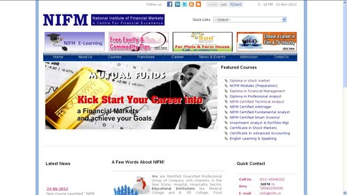 Short Term Job Oriented Courses by NIFM in Janakpuri, New ...