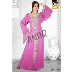 Pink Hand Embroidered Kaftan 140