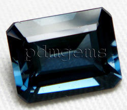 London Blue Topaz Faceted Octagon Gemstone